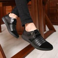 欧洲先生2016春季男士休闲鞋英伦黑色商务皮鞋中年青年反绒皮鞋真皮驾车鞋子潮