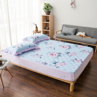 全棉床笠单件加厚夹棉床罩1.8m床套1.5米席梦思保护套防滑床单可调节