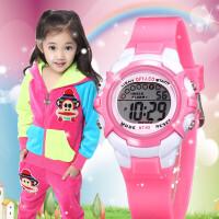 儿童手表女孩男孩防水夜光小学生手表女童运动电子表时尚韩版手表