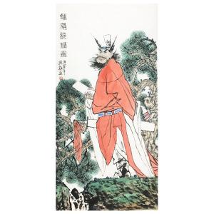 中国美术家协会理事 蔡超  《钟馗接福图之一》