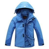 冬款儿童冲锋衣男童女童滑雪服两件套加厚棉服登山服