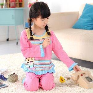 阿拉兜高端儿童睡衣 春季新款时尚女童睡衣 女孩纯棉家居服 3272