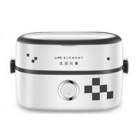 保温饭盒可插电加热 电蒸煮饭盒热饭器 陶瓷电热饭盒迷你