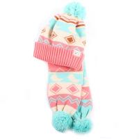 冬季儿童帽子男女宝宝帽子围巾套装婴儿帽子围巾两件套
