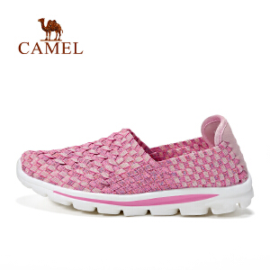 cmael骆驼户外休闲鞋 女款轻便透气舒适低帮套脚休闲鞋女