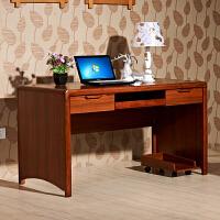 御品工匠 实木书桌 1.4米电脑桌家用写字台桌台 中式橡木实木框架书房家具0614