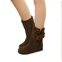 秋冬季女童靴子中筒靴公主靴学生单靴大童靴