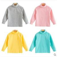 男女童宝宝纯色上衣T恤厚高领打底衫儿童保暖内衣