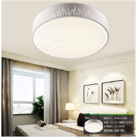 nvc雷士 LED吸顶灯 沐青 双色光源带遥控卧室灯具 现代风简约圆形卧室灯
