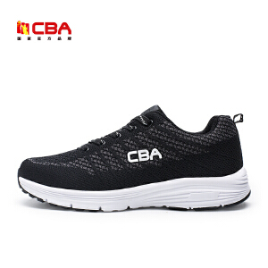 CBA男子跑步鞋 2017新款飞织透气轻便缓震运动休闲跑鞋潮鞋