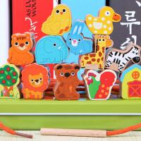 0-1-2-3周岁儿童宝宝婴儿益智早教玩具智力积木穿线串珠绕珠女孩