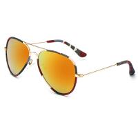 Yinbeler儿童偏光眼镜迷彩包边彩膜太阳镜男童女童墨镜防紫外线蛤蟆镜宝宝个性遮阳眼镜潮