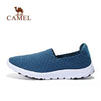 camel骆驼户外男士休闲鞋 松紧织带透气套脚休闲鞋男