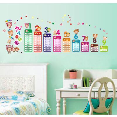 【乖宝宝花园教育文具】墙贴 儿童房卡通教室布置幼儿