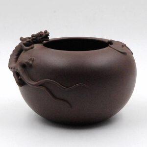 民国 紫砂螭龙福寿洗