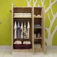 御目 大衣柜 简易宜家实木质板式组合整体衣柜家用2门3门4门大衣柜儿童衣橱柜子 创意家具