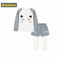 巴拉巴拉童装女童套装儿童衣服假两件裤子秋装2017新款小童宝宝潮