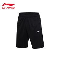 李宁卫裤2017新款男士夏季短裤针织运动裤AKSM123