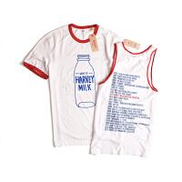 Levi's/李维斯新款男士t恤牛奶瓶纪年史印花T恤24672-0001