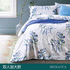 贝赛亚 高端60支贡缎长绒棉床品 双人加大印花床上用品四件套 乔西