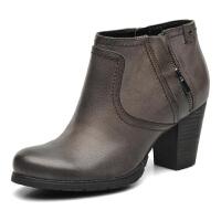 【国内现货】Clarks/其乐女鞋2017秋冬新款真皮时尚休闲短靴Macay Halle专柜正品直邮