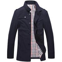 伯思凯秋装新款男士夹克商务立领单排扣免烫中长款男士夹克