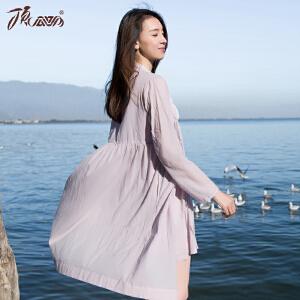 顶瓜瓜睡衣女纯棉面料浴袍两件套 性感吊带裙少女系睡袍春季新款家居服