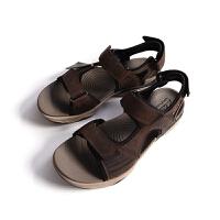 Clarks/其乐沙滩凉鞋男鞋夏季皮质户外凉鞋沙滩鞋26114397