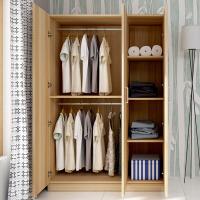 御目 衣柜 简易卧室组装衣柜整体板式组合衣柜2门3门4大衣柜儿童衣橱木质储物柜子满额减限时抢礼品卡创意家具