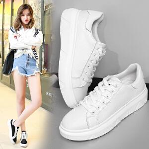 ZHR2017春季新款韩版小白鞋女透气网面鞋平底休闲鞋厚底单鞋板鞋G99