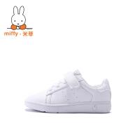 Miffy米菲 童鞋男童鞋女童鞋春季新款白色儿童运动鞋学生小白鞋软底休闲鞋潮