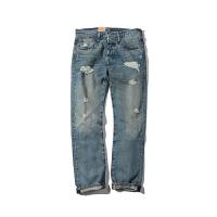Levis/李维斯男士牛仔裤男款做破糜烂水洗牛仔裤501直筒牛仔裤