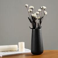 御目 摆件 陶瓷创意时尚白色花瓶现代简约瓷器客厅摆件家居家饰干花花器插花 创意家饰