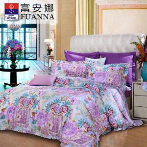 [当当自营]富安娜家纺全棉床上用品四件套床品套件锦绣缘 绿 1.8米(6英尺)床