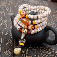 新月星月菩提子108颗正月佛珠项链 男女款手串手链