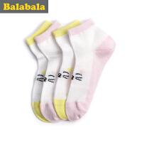 巴拉巴拉童装女童袜子中大童童袜2017夏季新款袜儿童棉袜女2双装