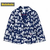 巴拉巴拉童装男童外套小童宝宝西服秋装2017新款儿童小西装英伦风