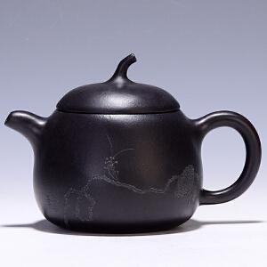 工艺美术师 史宝芝 《茄段壶》 焐黑 H1