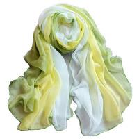 纯色围巾女士渐变丝巾百搭中长款冬天轻薄纱巾