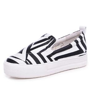 milkroses 冬款清仓 原创个性几何图案布料舒适懒人鞋