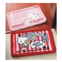 陆捌壹肆 hello kitty 凯蒂猫卡通可爱短绒防滑地垫 门垫地毯飘窗坐垫  1个装