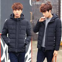 冬季新款棉衣男士短款外套韩版修身连帽棉袄加厚青年棉服男装潮