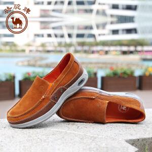 骆驼牌 春季新款英伦时尚日常休闲男士皮鞋简约轻便 套脚鞋