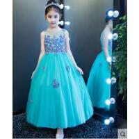 女童礼服 公主裙婚纱长袖 花童裙儿童走秀主持钢琴演出服中大童