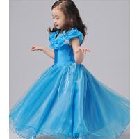 女童公主裙儿童礼服裙演出服 灰姑娘唯美迪士尼长裙婚纱