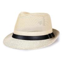 男士遮阳帽中老年帽子夏天亚麻爸爸帽太阳帽男士凉帽大檐防晒礼帽