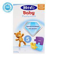 荷兰美素Hero Baby婴幼儿奶粉5段(2周岁以上)700g一盒装 观有轻微破损或变形 保质期到18年3-5月