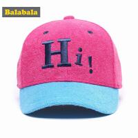巴拉巴拉女童休闲帽子秋装2017新款中大童女孩户外保暖时尚棒球帽