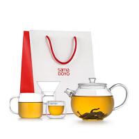 尚明新品功夫茶壶套装耐热玻璃茶壶过滤 加厚玻璃功夫茶具泡茶壶 T110