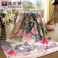 [当当自营]富安娜家纺 毛毯盖毯冬季保暖毯子法兰绒毯1.5米 1050g 黄色-玛歌酒庄